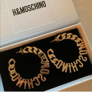 HM Moschino Earrings BNWT in box never used!